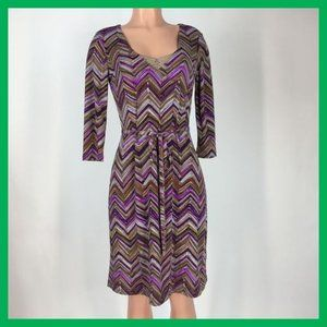 Attention Women's Dress Size Small Multi-Color